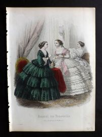 Journal des Demoiselles C1850 Antique Hand Col Fashion Print 30